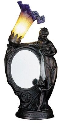 """Meyda Tiffany 16"""" Torchiere Lamp Finish: Mahogany Bronze"""