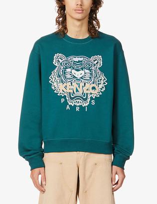 Kenzo Tiger regular-fit cotton-jersey sweatshirt