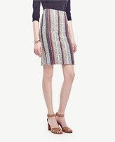 Ann Taylor Racer Stripe Tweed Pencil Skirt