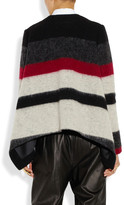Thakoon Striped brushed wool-blend jacket