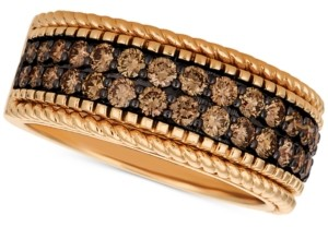LeVian Le Vian Chocolatier Chocolate Diamond Wide Band (1-1/2 ct. t.w.) in 14k Rose Gold