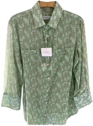 Barba Green Cotton Top for Women