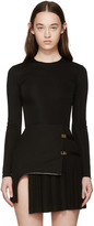 Balmain Black Viscose Bodysuit