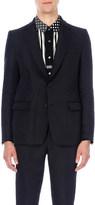 Sacai Frayed-edge twill blazer
