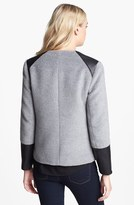 Ella Moss Faux Leather Trim Wool Jacket