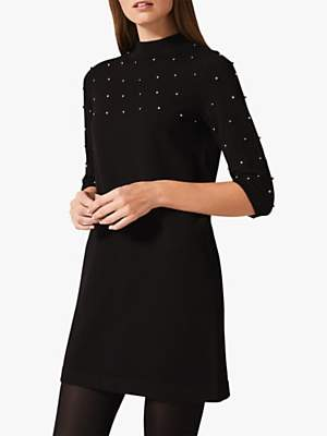 Phase Eight Selina Bead Dress, Black