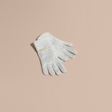 Burberry Ribbed Knit Wool Cashmere Gloves