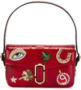 Marc Jacobs embellished patch shoulder bag - women - Snake Skin - One Size