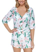 Thumbnail for your product : Raisins Juniors' Aloha Nights Key West Romper Cover-Up Women's Swimsuit