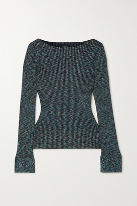 Theory Ribbed-knit Space-dyed Sweater - Blue