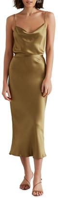 Seed Heritage Satin Midi Skirt