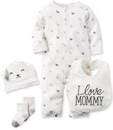 Carter's Baby Boys' or Baby Girls' 4-Pc. Little Lamb Converter Gown, Cap, Bib & Socks Set