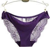 Baishitop Womens Hollow Lace Panty Jacquard Seamless Briefs (L, )
