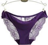 Baishitop Womens Hollow Lace Panty Jacquard Seamless Briefs (S, )