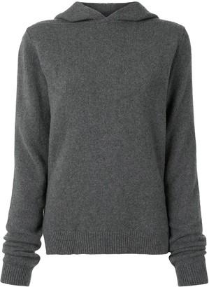 Rick Owens Long-Sleeved Side Slit Hoodie