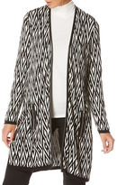 Rafaella Long Sleeve Jacquard Duster Jacket