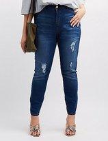 Charlotte Russe Plus Size Refuge Hi-Rise Skinny Destroyed Jeans