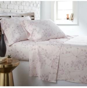 Southshore Fine Linens Soft Floral 4 Piece Printed Sheet Set, Queen Bedding
