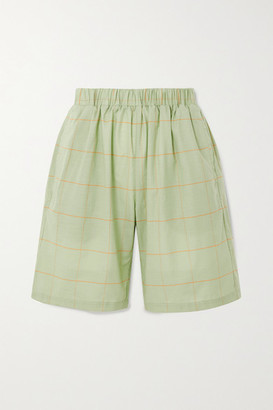 Matin Bermuda Checked Cotton-voile Shorts