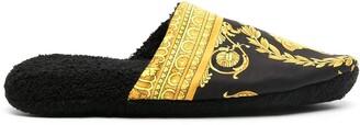 Medusa print slippers