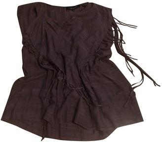 Isabel Marant Burgundy Linen Top for Women