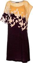 Aula chiffon and velvet dress