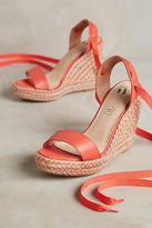 Vanessa Wu Colorful Wedge Sandals