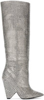 Saint Laurent Niki 105 Crystal Slouch Boots