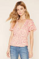 Forever 21 Contemporary Floral Wrap Top