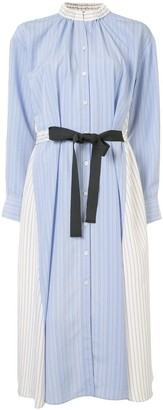 Le Ciel Bleu Tie Waist Multi-Striped Dress