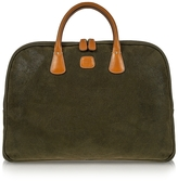 Bric's Life Olive Green Micro Suede Laptop Case