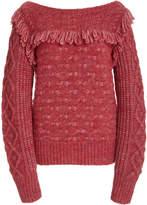 LoveShackFancy Kingston Fringed Alpaca-Wool Blend Sweater