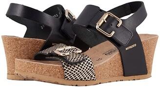 Mephisto Lissandra (Black Waxy/Cuba) Women's Wedge Shoes