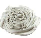 "Beauty II Silk Shawl Scarf for Wedding Bridal Evening Party Long (Yellow, 35.4""x70.8"")"