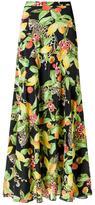 Isolda silk maxi skirt