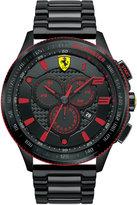 Ferrari Scuderia Men's Chronograph Scuderia Black Ion-Plated Steel Bracelet Watch 48mm 830142