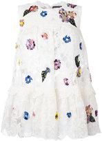 Alexander McQueen floral lace blouse - women - Cotton/Viscose/Polyimide - 38