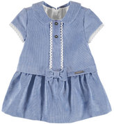 Mayoral Corduroy Dress with Knit and Bow Detail, Size 6-36 Months