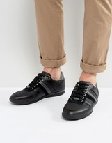 BOSS GREEN By Hugo Boss Leather And Rubber Sneakers Black