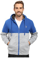 U.S. Polo Assn. Color Block Sherpa Hoodie