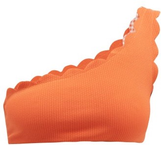 Marysia Swim Santa Barbara Scallop-edged Bikini Top - Womens - Orange
