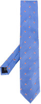 fe-fe embroidered train tie - unisex - Silk - One Size