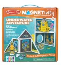 Melissa & Doug Melissa Doug 55-Piece Magnetivity Magnetic Building Play Set - Underwater Adventure with Submarine 10 Panels, 41 Accessory Magnets