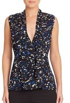 Proenza Schouler Silk Printed Wrap Top