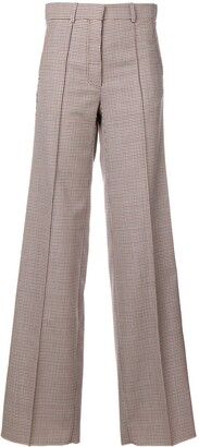 Victoria Beckham Checked Wide-Leg Trousers