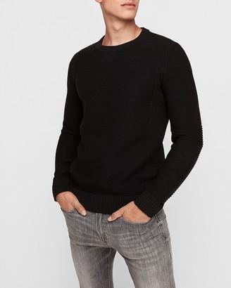 Express Textured Tech Crew Neck Sweater