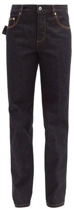 Bottega Veneta Mid-rise Straight-leg Jeans - Dark Blue