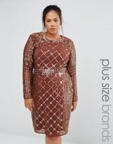 Lovedrobe Luxe Long Sleeve Stud Embellished Shift Dress