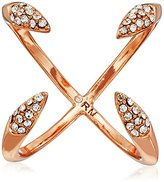 Rebecca Minkoff Pave Claw Rose Gold Ring, Size 7