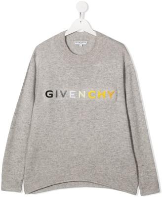 Givenchy Kids TEEN gradient logo jumper